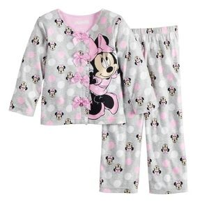 Disney's Minnie Mouse Two Piece Pajama Set